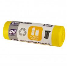 Saci colectare selectiva, plastic/metal, 120 l., galben, 70 x 110 cm., 10 buc./rola