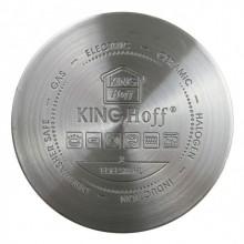 Set de oale din inox KingHoff KH-1202, 8 piese, inductie, capac, incalzire rapida