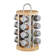 Stand cu recipiente pentru condimente Kuchenprofi, 17 piese, suport rotativ