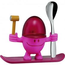 Suport pentru ou si lingurita WMF McEgg, plastic, roz