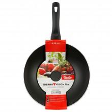 Tigaie wok din aluminiu cu interior antiaderent Fissler, diametru 28 cm, seria Thermovision Plus