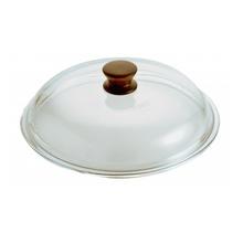 Capac Kassel, diametru 20 cm, sticla Pyrex, maner lemn
