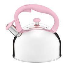 Ceainic cu maner colorat 2.3L roz Garden