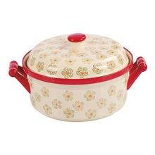 Cratita ceramica cu capac Peterhof, capacitate 1,2 litri