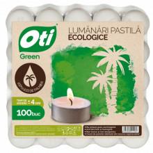 Lumanari ecologice tip pastila OTI, 100 buc./set