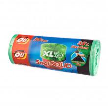 Saci menaj SOLID 35 l. XL, verde, 50x70 cm., 30 buc./rola