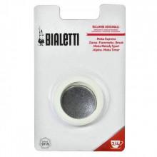 Set 3 garnituri+sita pentru espressor aragaz Bialetti, marime 3/4 cupe