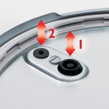 Set oala + tigaie (cratita) sub presiune Fissler Vitaquick, capacitate 6 + 2.5 Litri, diametru 22 cm, inductie