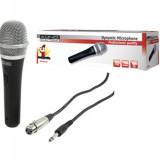 Microfon cu fir jack 6.35 mm, exterior metalic