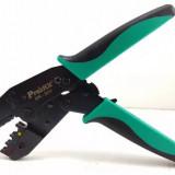 Cleşte de presat/sertizat papuci cablu, profesional