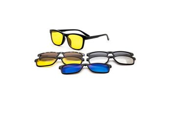 Rame ochelari de vedere si soare cu 5 Clip on 2201 A