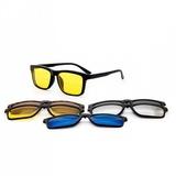 Rame ochelari de vedere si soare cu 5 Clip on Model 2202 A