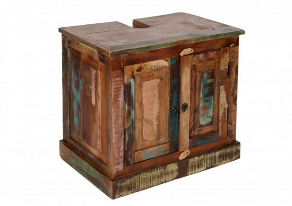 Comoda din lemn reciclat Riverboat, multicolor, 66 cm