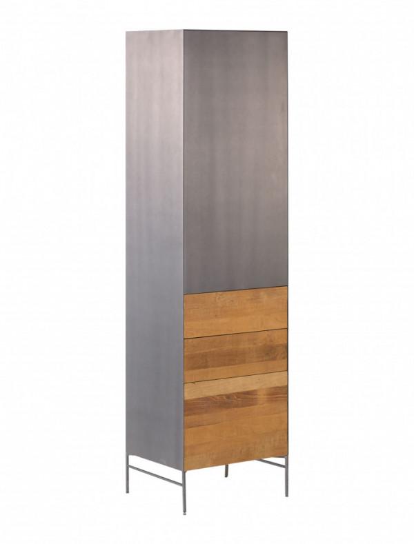 Dulap inalt din tec o usa pe dreapta si 3 sertare 55x202 cm