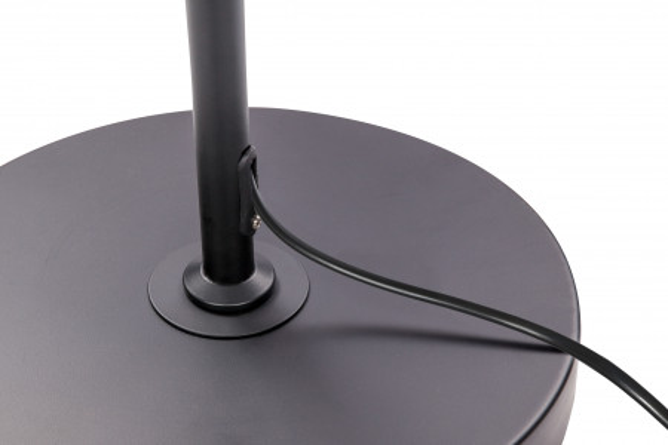Lampadar din metal Exota negru, un bec