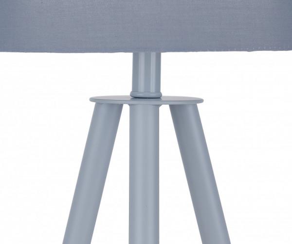 Lampadar din metal/lemn/tesatura THIS & THAT 55 cm gri, un bec