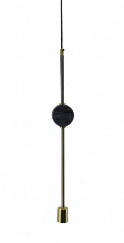 Lustra din fier/cupru/marmură Camryn neagra, un bec