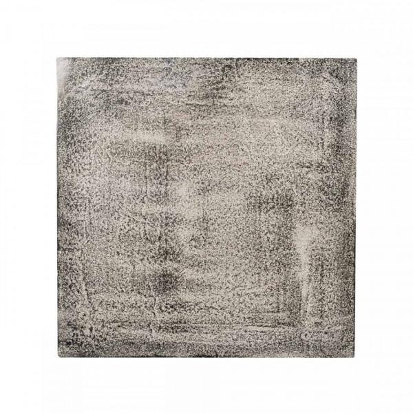 Masa de cafea patrata din metal Lanson 57x40,5x40,5 cm neagra
