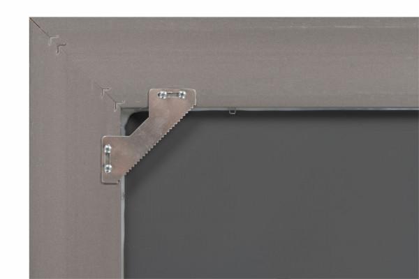 Oglinda dreptunghiulara cu rama din polistiren maro închis Scott, 147,5cm (L) x 47,5cm (L) x 5,2cm (H)