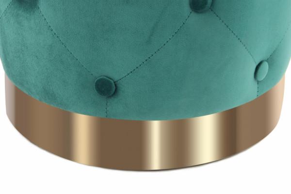 Puf/ Taburet tapitat Piano verde