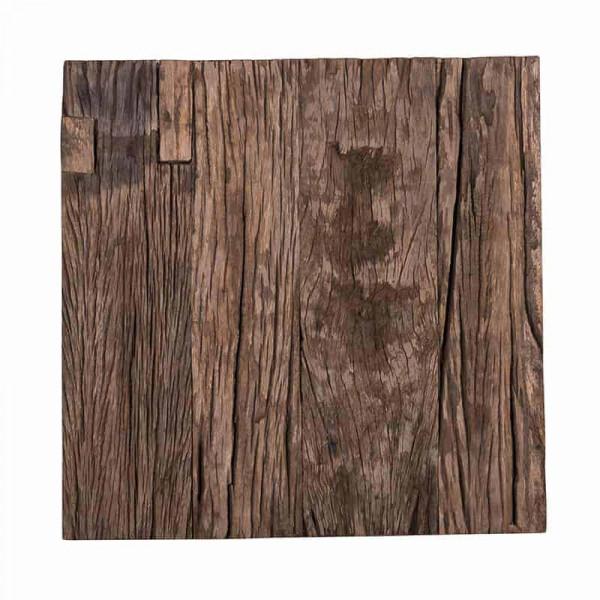 Set 2 masute pentru plante cu blat din lemn reciclat Kensington 80x90 cm