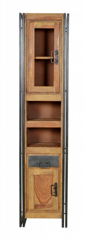 Set 5 piese mobilier pentru baie din lemn de salcam Panama
