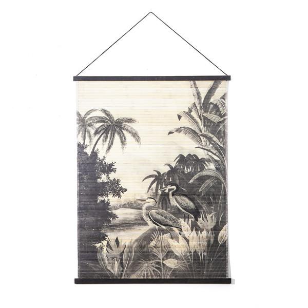 Decoratiune de perete din bambus Miyagi jungle large