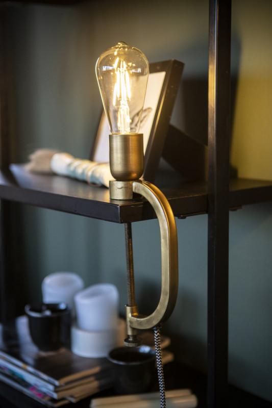 Lampa de birou din aluminiu Klamp aurie