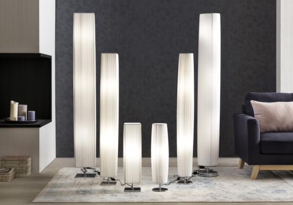 Lampadar rotund din latex/metal 120 cm alb, 2 becuri