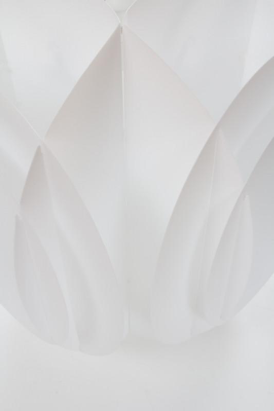 Lustra din polipropilena Robot alba, un bec