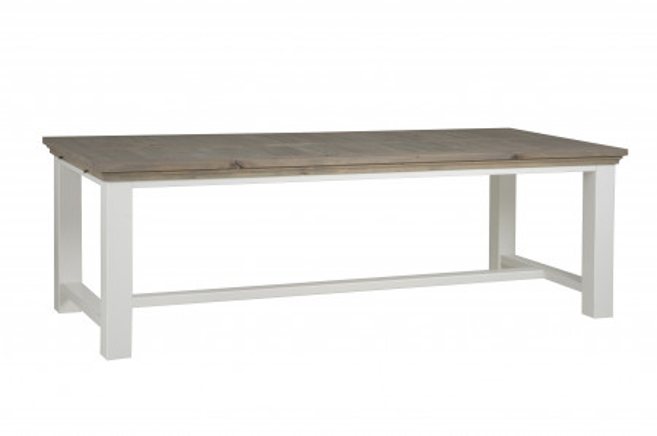 Masa dreptunghiulara din lemn 240x100x78 cm maro/alb