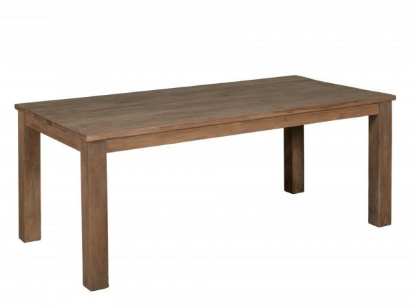 Masa dreptunghiulara din lemn de tec 240x100x78 cm maro inchis