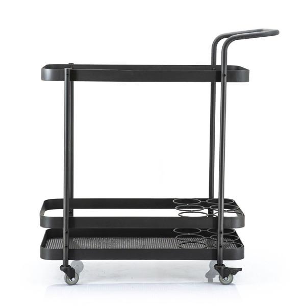 Masuta/Carucior pentru servire din fier Rodando, 80x40x86 cm, negru