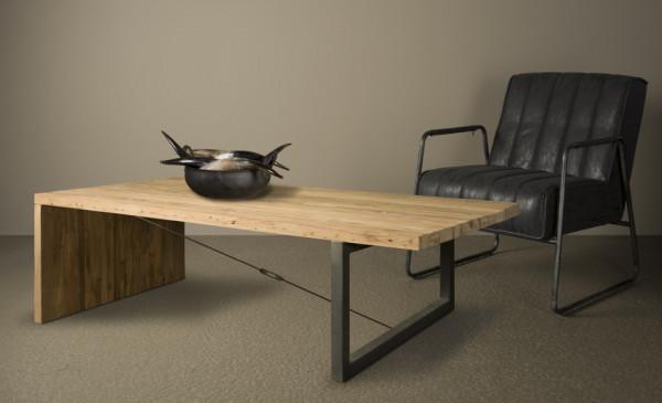 Masuta de cafea dreptunghiulara din lemn 135x75x40 cm maro