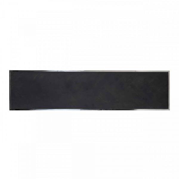Masuta de cafea dreptunghiulara din otel si stejar Blackbone 160x40x40 negru/argintiu