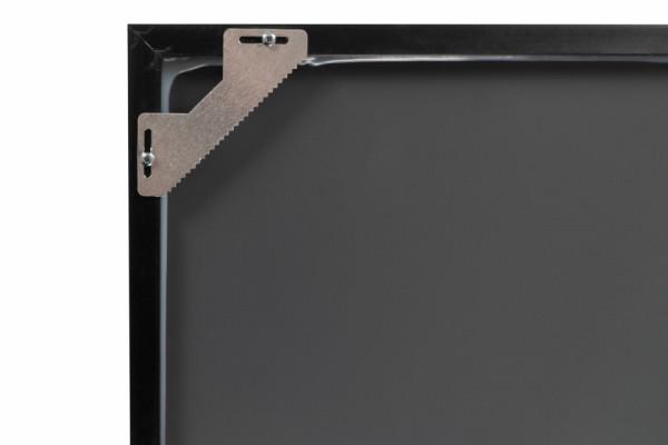 Oglinda dreptunghiulara cu rama din polistiren argintie/neagra Cliff, 56cm (L) x 36cm (W) x 1.6cm (H )