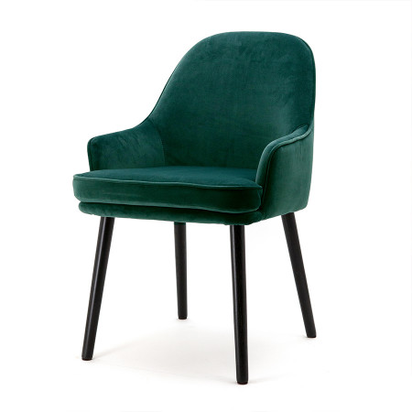 Scaun din catifea Barbara verde