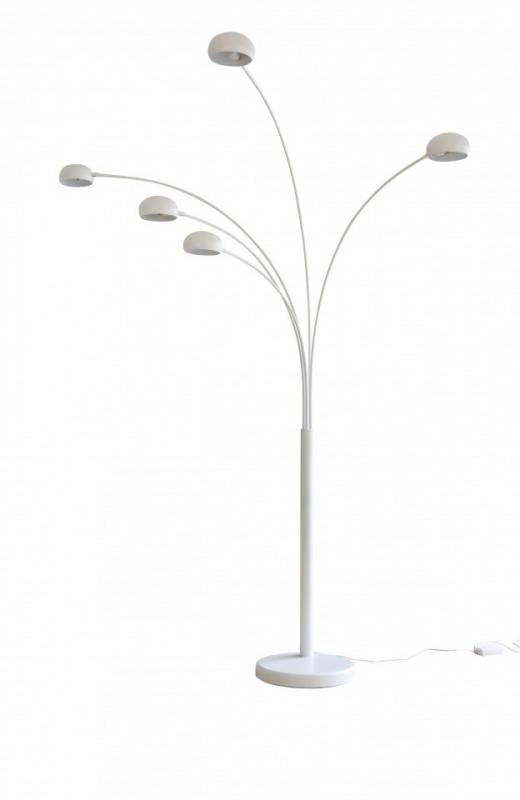 Lampadar din metal/marmura THIS & THAT 220 cm alb, 5 becuri