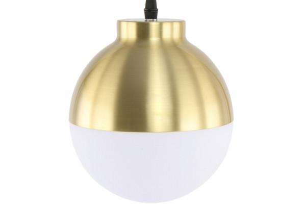 Lampadar din sticla/fie Lavina alb/ auriu, un bec