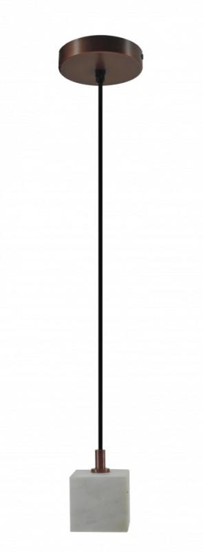 Lustra din fier galvanizat/marmură Sigma III alba, un bec