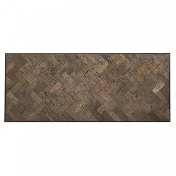 Masa dreptunghiulara cu blat din lemn stejar Herringbone 76 x 240 x 100 cm
