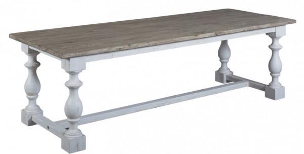 Masa dreptunghiulara din lemn masiv 210x100x78 cm maro/alb
