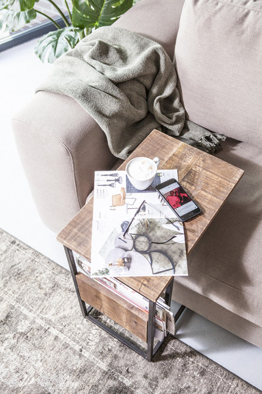 Masuta de cafea dreptunghiulara din lemn de mango Slider 48x32x55 cm maro