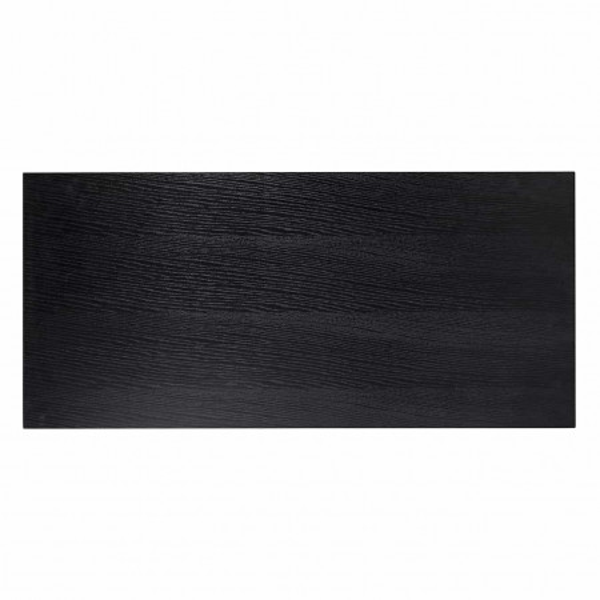 Masuta de cafea dreptunghiulara din stejar si metal Oakura 140x65x40 cm neagra