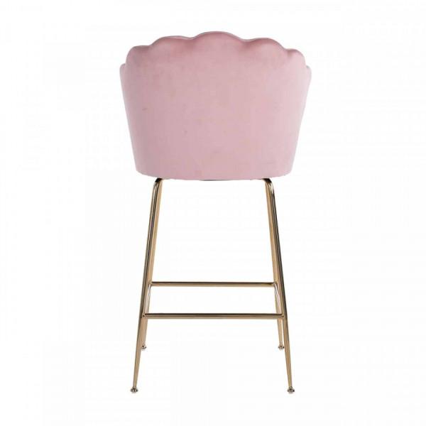 Scaun de bar tapitat Pippa roz