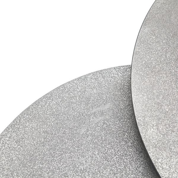 Set 2 masute de cafea rotunde din metal Setto 70x70x38 cm gri