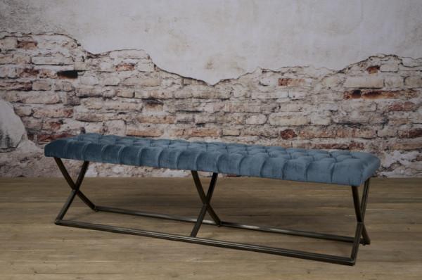 Bancheta Bolton din catifea/blu