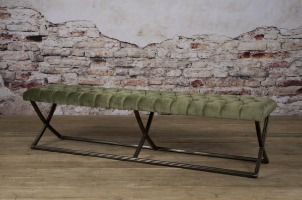 Bancheta Bolton din catifea/oud verde