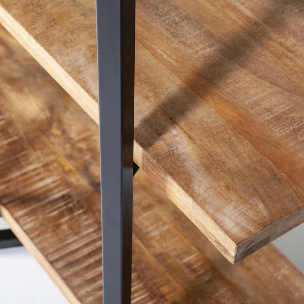 Biblioteca din mango Eddy 160x180 cm Beige