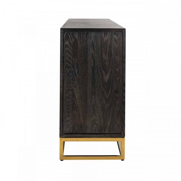Comoda din lemn de stejar Blackbone 225 cm, 4 usi